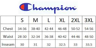 Champions Basketball Jersey Sizing Chart