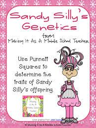 sandy silly s genetics from making it teacher on teachersnotebook 6th 8th grade middle teacheriddle