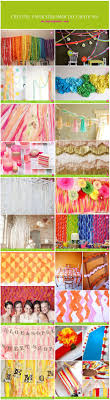Party Decorations using paper streamers. Collection from various blogs and  sites created using paper streamers