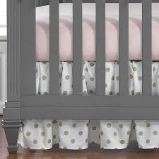 gold crib sheet best per free baby bedding images on black and white polka dot fitted