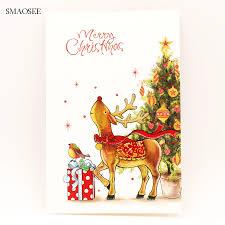 8 ชิ้น/เซ็ตการ์ตูนกวางการ์ดอวยพรคริสต์มาสเด็กการ์ดอวยพรวันเกิด 2020  ของขวัญตกแต่งคริสต์มาสการ์ดคริสต์มาสอุปกรณ์ greeting cards birthday  greeting cardschristmas greeting cards - AliExpress