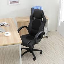 high office desk. Amazon.com: Belleze Racing Style Office Chair PU Leather Race High Back Swivel Seat Computer Desk, Black: Kitchen \u0026 Dining Desk I