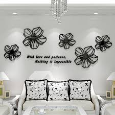 on wall art decals for living room with wall art decals black red blue pink acrylic flower decorative home decor