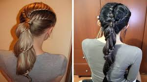 Lace Hair Style carousel winding lace braid ponytail hairstyle hair tutorial youtube 6295 by wearticles.com