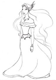 pocahontas disney princess on pocahontas to color for kids coloring pages