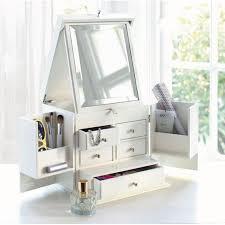 elegant multipurpose makeup jewellery storage vanity bedroom dresser with mirror countertop display