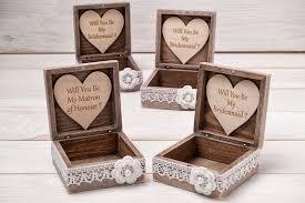 21 bridesmaids gift wooden jewelry box
