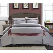 chic home palani modern hotel collection red 7 piece bed in a bag duvet cover