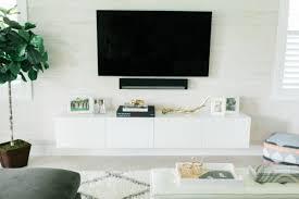 ikea diy floating tv console
