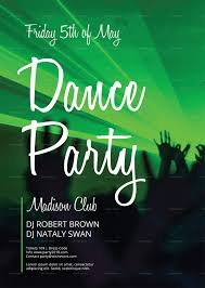 Green Party Flyer Dance Party Flyer Template
