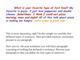 four types of sentences 9