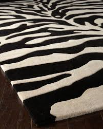 fair ivory zebra rug 5 x 8