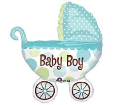 Baby Carriage Boy Shape Baby Balloons The Balloonery Inc