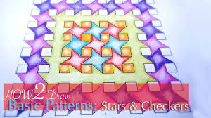 How To Draw A Geometrical Chart How To Draw Simple Geometric Patterns Stars And Squares