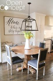 diy round table as seen on open concept shanty 2 chic diy round dining table