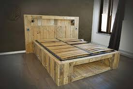 Source  DIY Pallet Bed