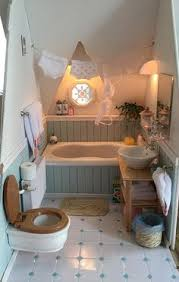 miniature attic bathroom vintage modern dollhouse furniture 1200 etsy