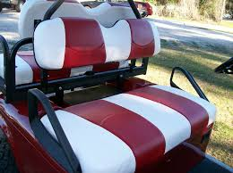 e z go club car yamaha golf cart vinyl seat covers stapled on wht red c