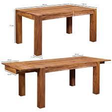 Wohnling Esstisch Mumbai Massivholz Sheesham 160 240cm Ausziehbar Esszimmer Tisch Design Küchentisch Landhaus Stil Holztisch Yategocom