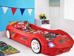 Image is loading Kids-Storm-Plastic-Childrens-Junior-Racing-Car-Bed-
