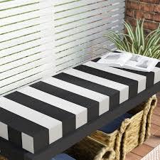 Knife Edge Outdoor Sunbrella Bench Cushion with Zipper & Reviews