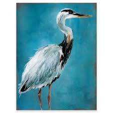 heron wall art in blue on heron canvas wall art with buy heron wall art from bed bath beyond