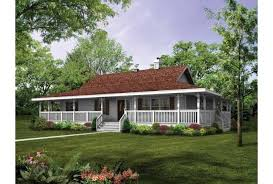 single story house plans with wrap