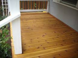 image of stylish wood tongue and groove porch flooring