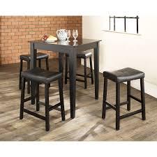 5 Piece Bar Table Set 5 Piece Pub Dining Set Black D Crosley Furniture Afw