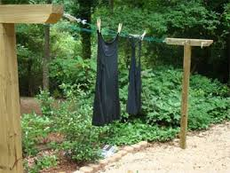 How To Make A Clothesline Delectable How To Make A Clothesline How To Make DIY Clothesline In Garden