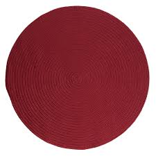 home decorators collection trends red 6 ft x 6 ft braided round area rug