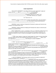 Generic Lease Agreement 24 Example Lease Agreement Teknoswitch 7