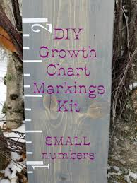 Diy Growth Chart Markings Kit Small Make Your Own Growth Chart Nursery Decor Height Markers Vinyl Growth Chart Canada