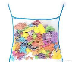best child baby bath toy organizer shower mesh pouch bathroom hanging soft with suction cup under best bath toy storage