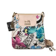 Coach Butterfly Poppy Small White Multi Crossbody Bags EPP Clearance Outlet