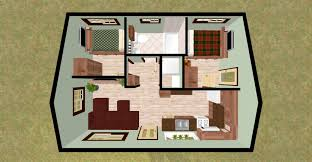 Small Bedroom Floor Plans Cozyhomeplanscom 432 Sq Ft Small House Firefly 3d Top View