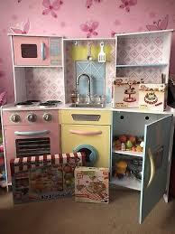 kidkraft wooden sweet treats pastel kitchen play food play kitchen utensils