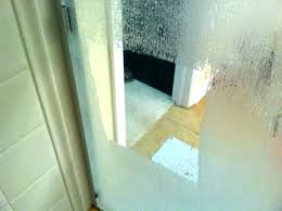 beautiful hard water stains on glass shower doors how to remove hard water stains from glass