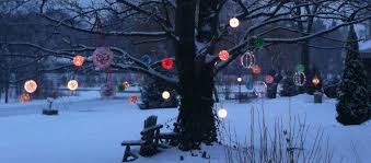 awesome and beautiful ball lights for trees outdoor