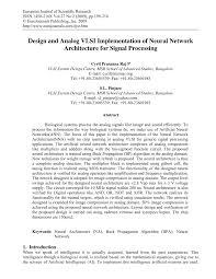 Analog Vlsi Design Pdf Pdf Design And Analog Vlsi Implementation Of Neural Network