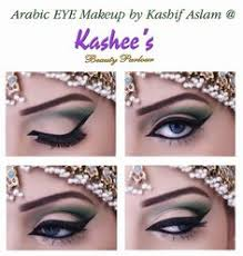 soft green eye makeup by kashees