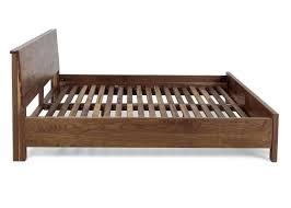 solid wood platform bed frame king diy walnut dark economic queen