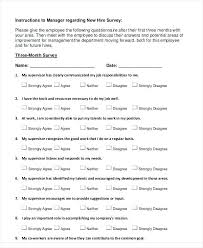 Sample Employee Questionnaire 6 Employee Engagement Questionnaire Template Questions Sample Survey