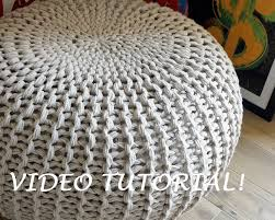 Knitted Pouf Pattern Custom Design