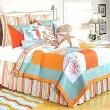 nautical bed set beach quilt sets teal orange nautical bedroom decor with multi colors beach bedding nautical bed set nautical bedding