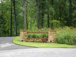 Landscaping Driveway Entrance Pillars Walls Hardscaping and driveway  landscaping ideas pictures