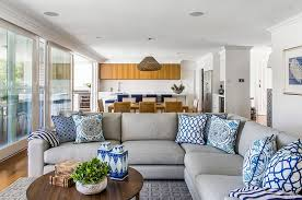 view in gallery accent pillows and ceramics are a classic way to bring the blue and white color scheme blue white living room