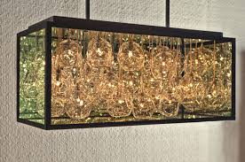 impressive n glass chandelier by john pomp studios