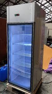 single glass door freezer on stock on