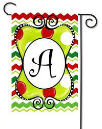 christmas garden flags. Christmas Monogram Garden Flags O